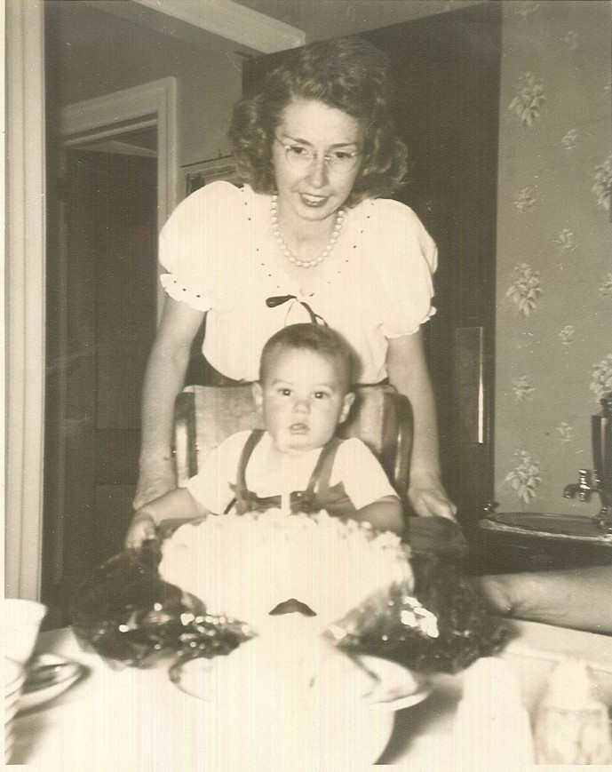 Lance's first Birthday with Mom Doris