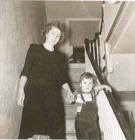Doris and son Lance at home in Philadelphia