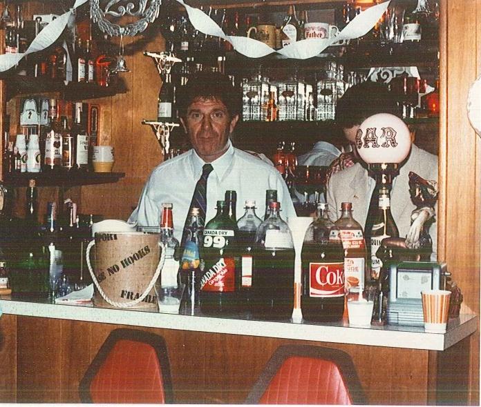 Jules Tending Bar at Party